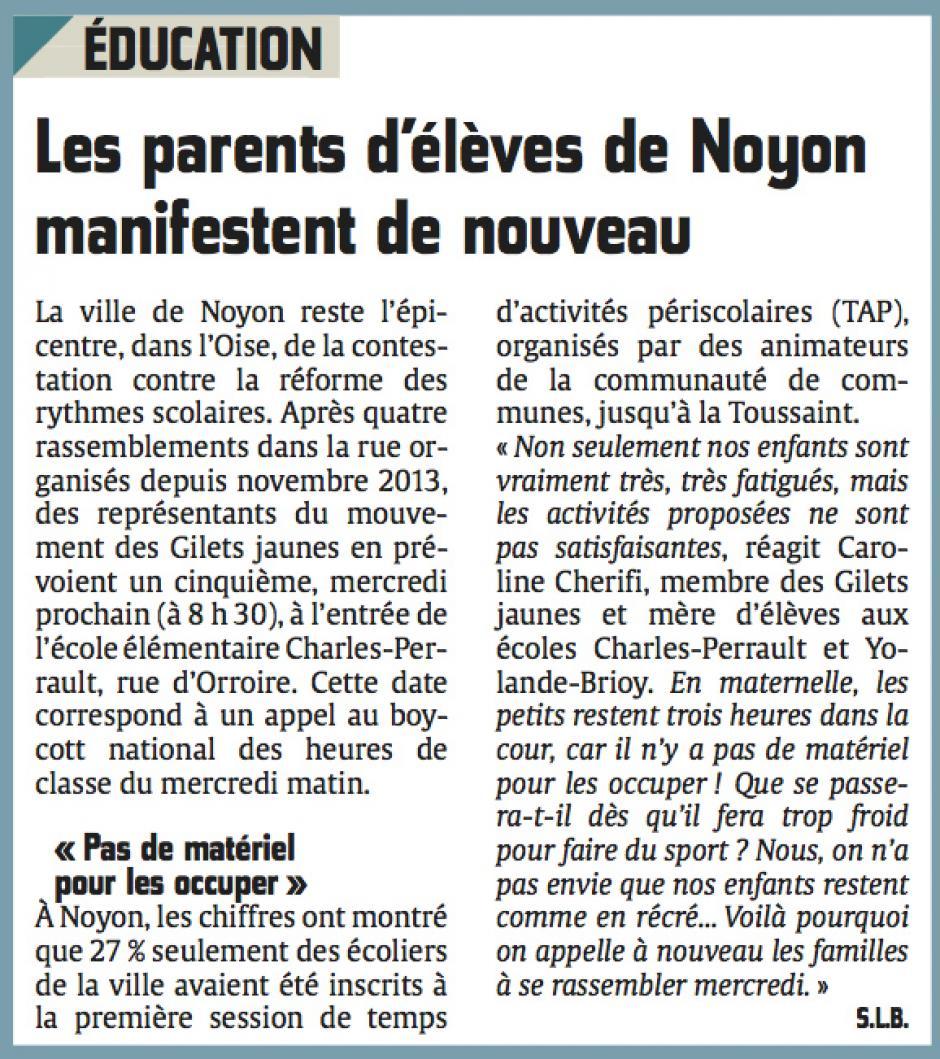20140926-CP-Noyon-Les parents d'élèves manifestent de nouveau [gilets jaunes]