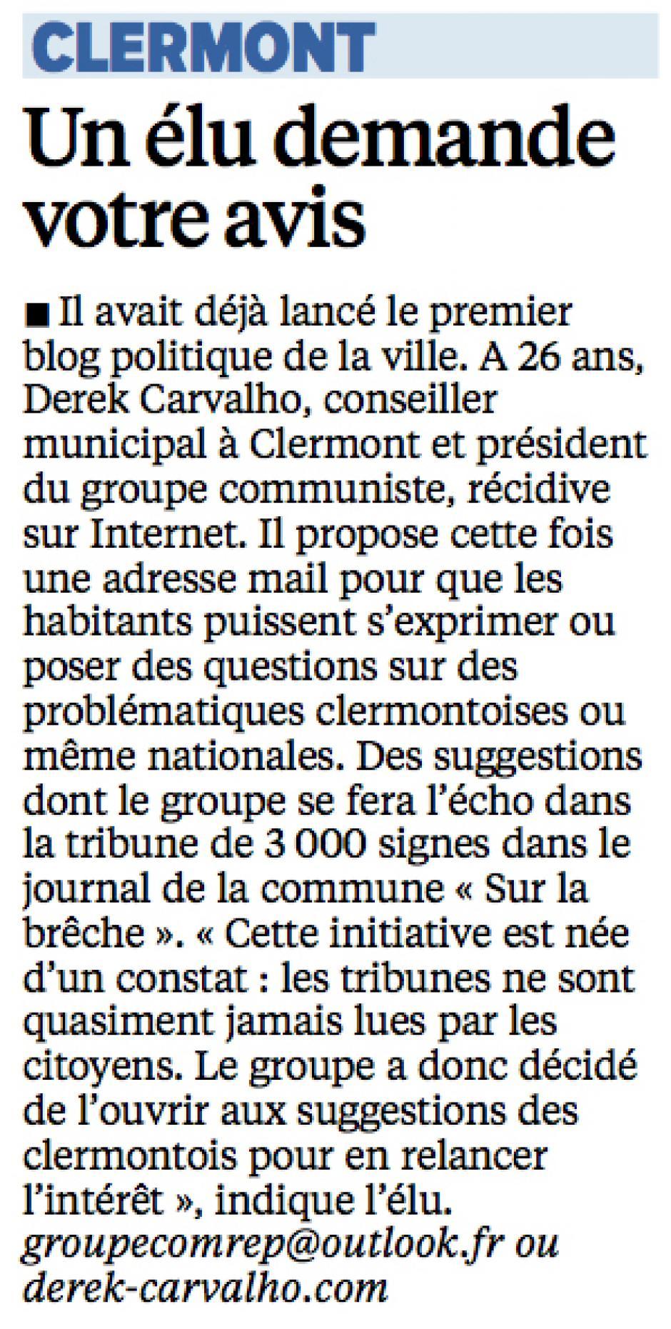 20141021-LeP-Clermont-Un élu demande votre avis [Derek Carvalho]