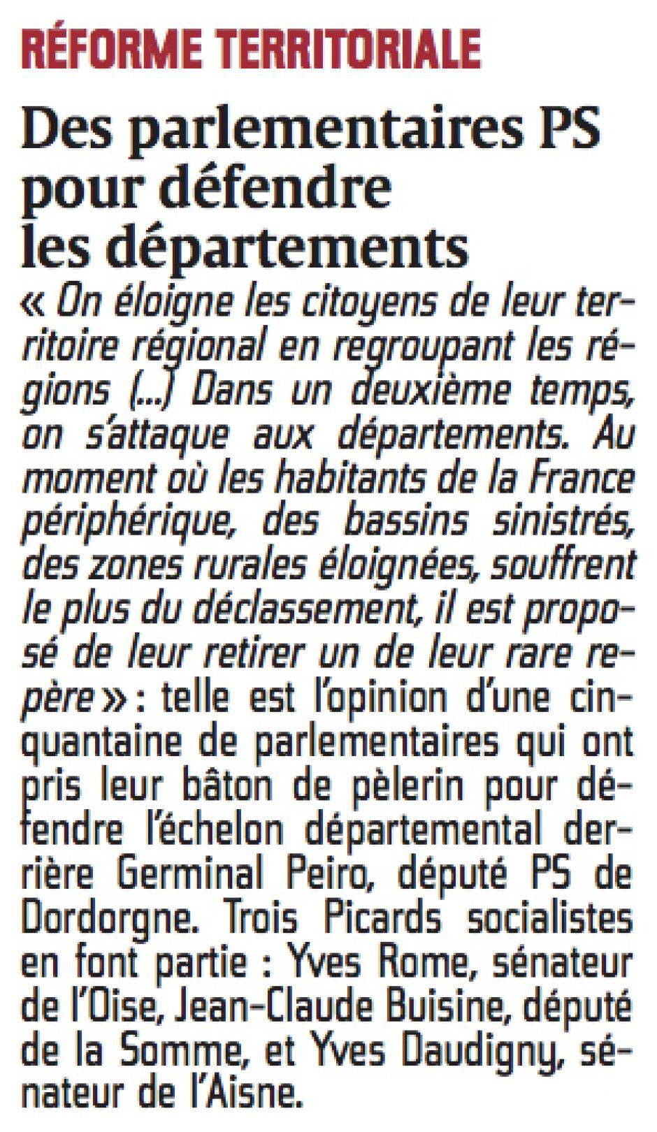 20141025-CP-Picardie-Des parlementaires PS pour défendre les départements