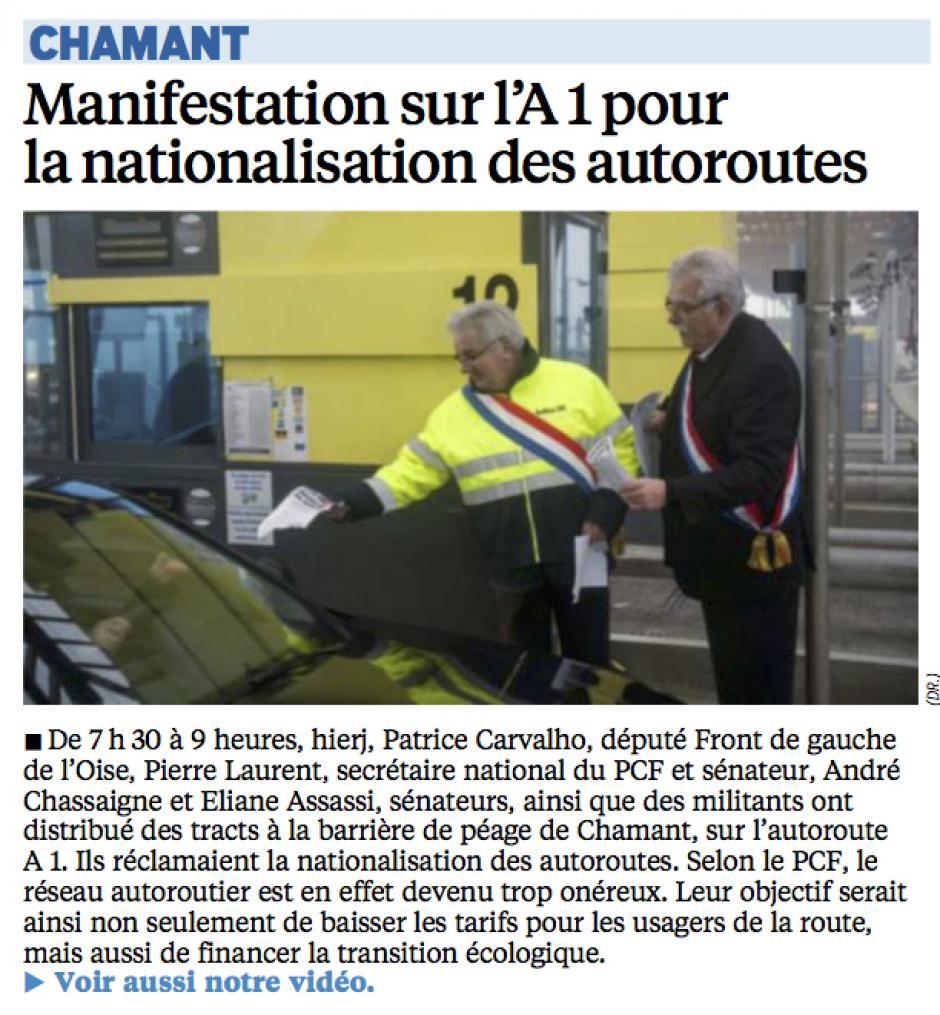 20141120-LeP-Chamant-Manifestation sur l'A1 pour la nationalisation des autoroutes