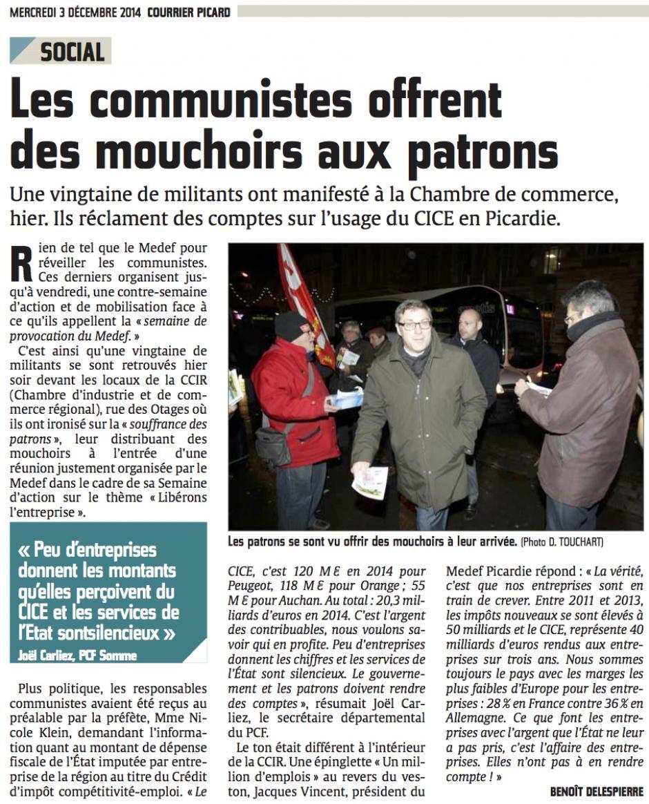 20141203-CP-Amiens-Les communistes offrent des mouchoirs aux patrons
