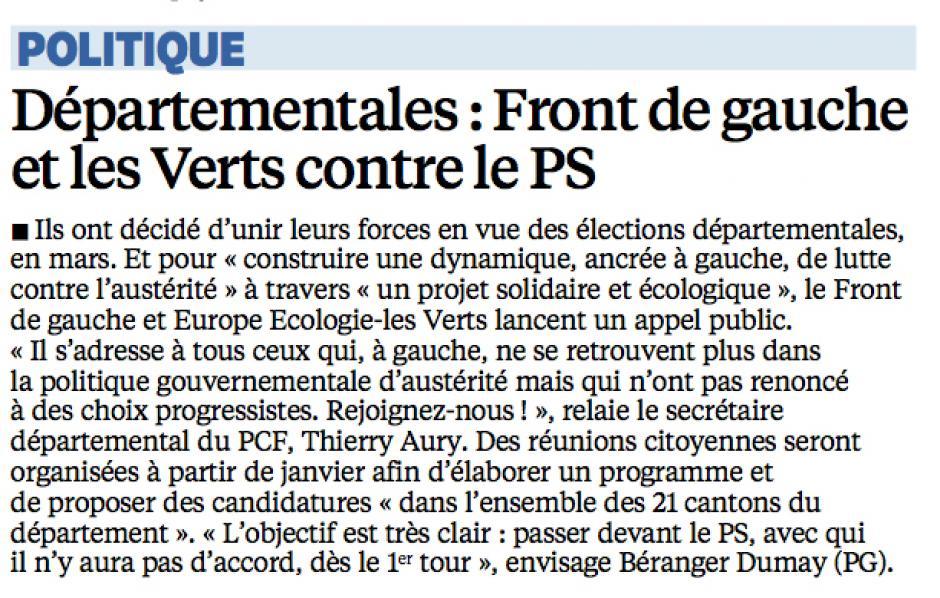 20141217-LeP-Oise-D2015-Départementales : Front de gauche et les Verts contre le PS