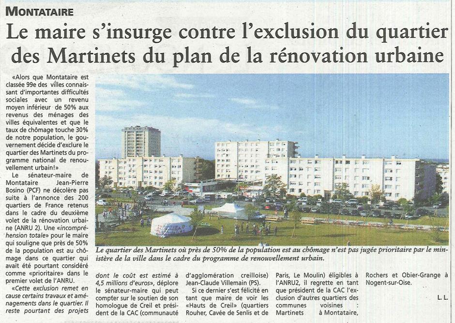 20150114-OH-Montataire-Le maire s'insurge contre l'exclusion du quartier des Martinets du plan de la rénovation urbaine