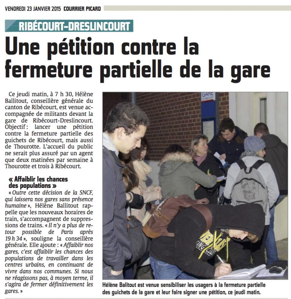 20150123-CP-Ribécourt-Dreslincourt-Une pétition contre la fermeture partielle de la gare