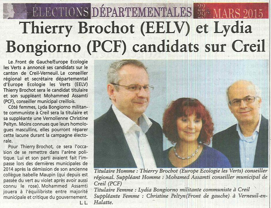 20150128-OH-Creil-D2015-Thierry Brochot (EELV) et Lydia Bongiorno (PCF) candidats