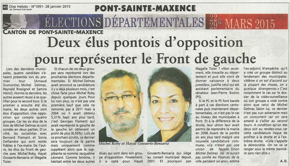 20150128-OH-Pont-Sainte-Maxence-D2015-Deux élus pontois d'opposition pour représenter le Front de gauche
