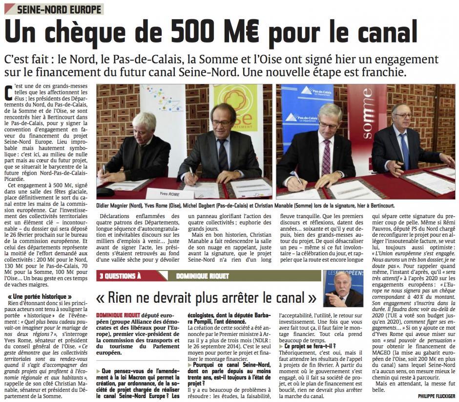 20150204-CP-Oise-Un chèque de 500 M€ pour le canal [Seine-Nord Europe]