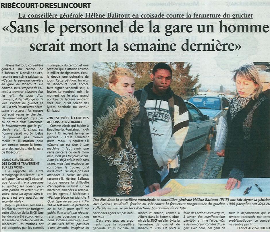 20150211-OH-Ribécourt-La conseillère générale Hélène Balitout en croisade contre la fermeture du guichet