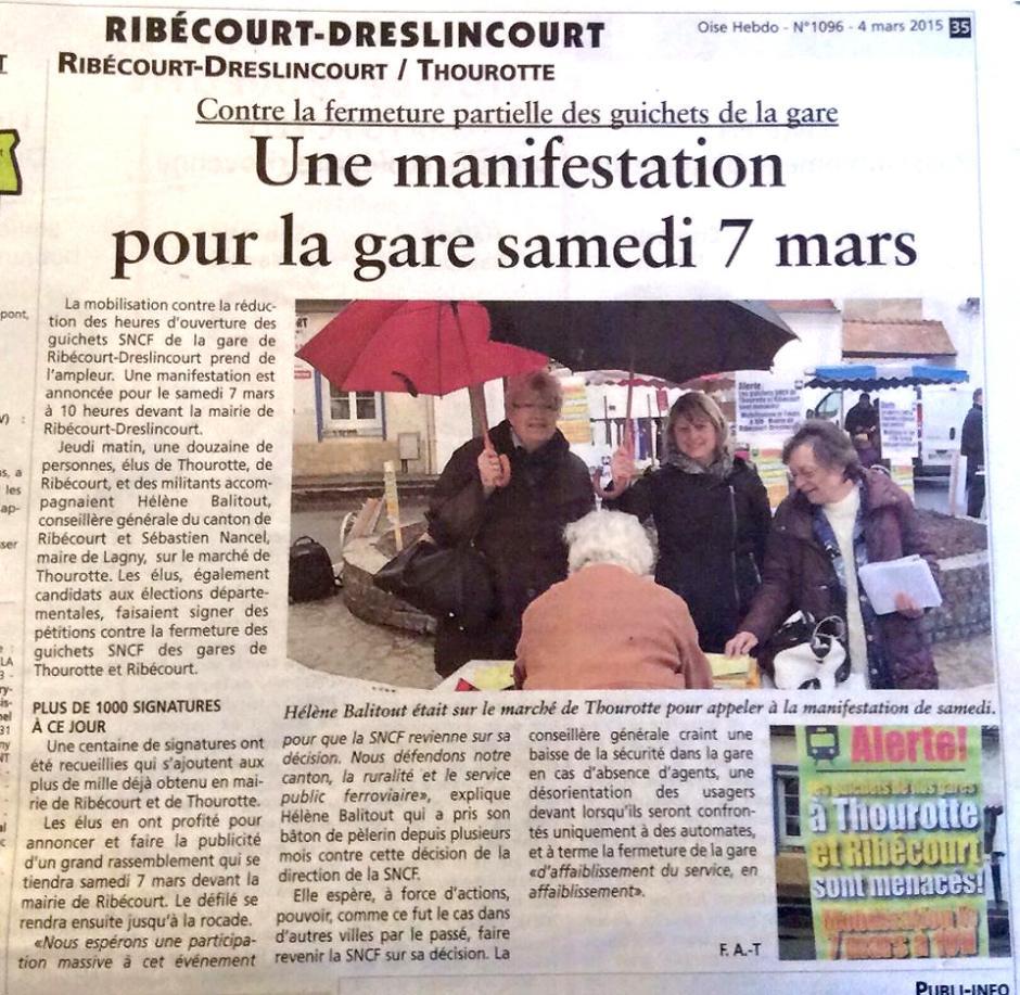 20150304-OH-Ribécourt-Contre la fermeture partielle des guichets, une manifestation pour la gare samedi 7 mars