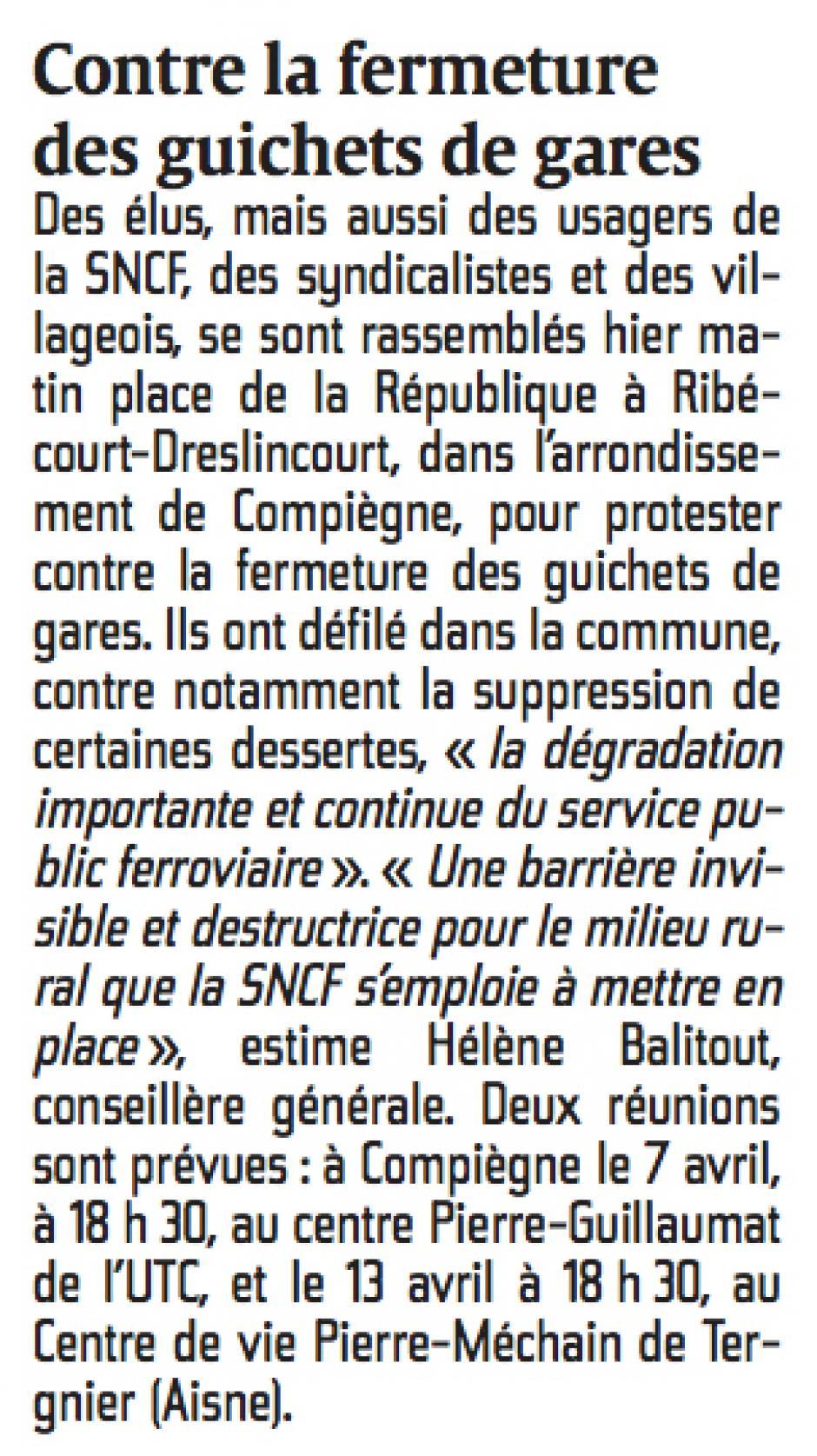 20150308-CP-Ribécourt-Dreslincourt-Contre la fermeture des guichets de gare [page régionale]