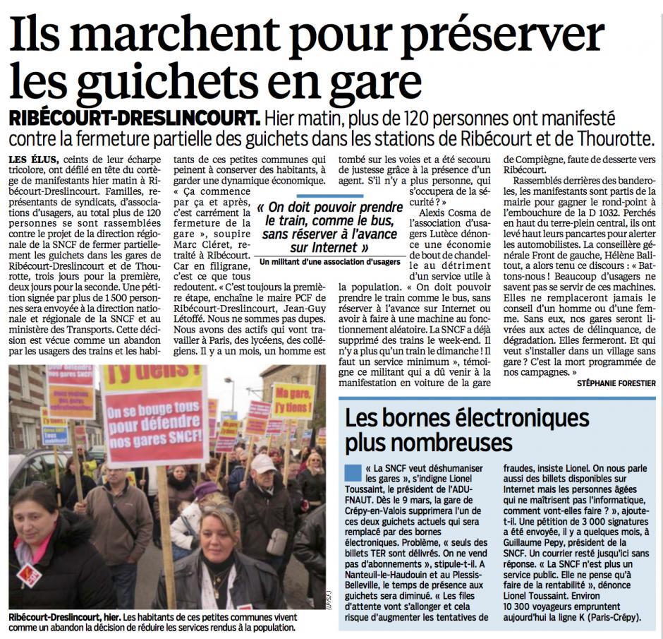 20150308-LeP-Ribécourt-Dreslincourt-Ils marchent pour préserver les guichets en gare