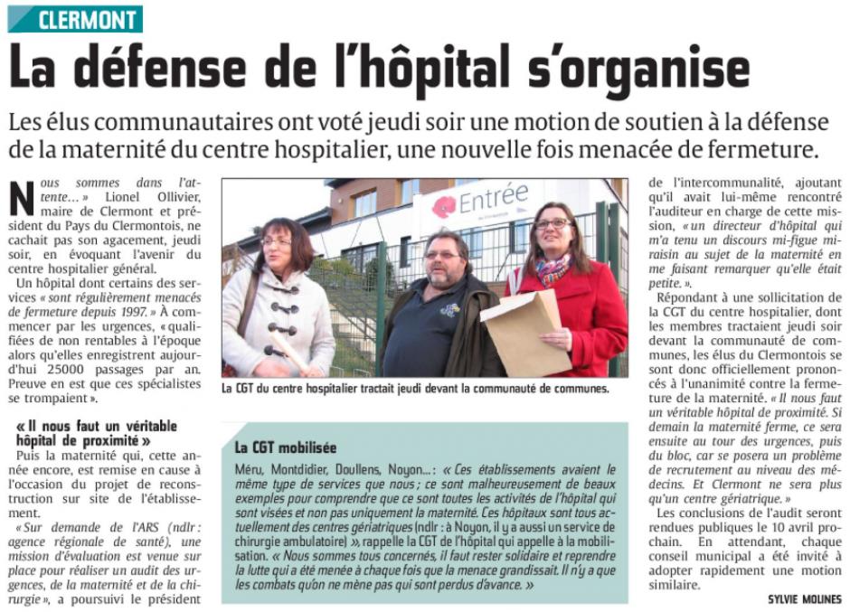 20150317-CP-Clermont-La défense de l'hôpital s'organise