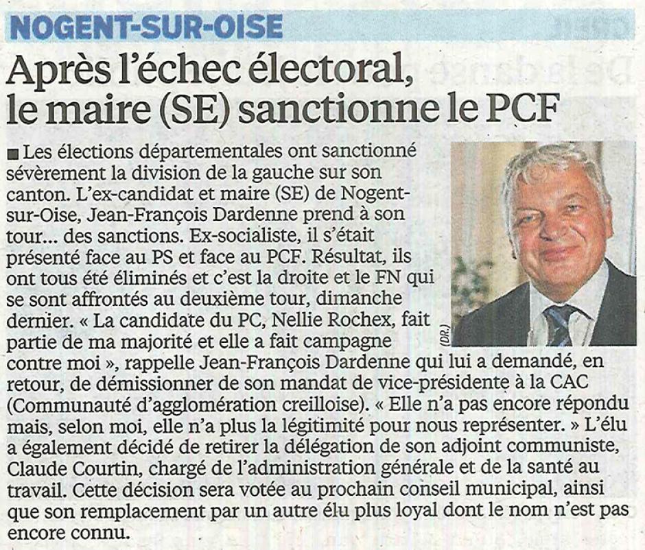 20150401-LeP-Nogent-sur-Oise-Après l'échec électoral, le maire (SE) sanctionne le PCF