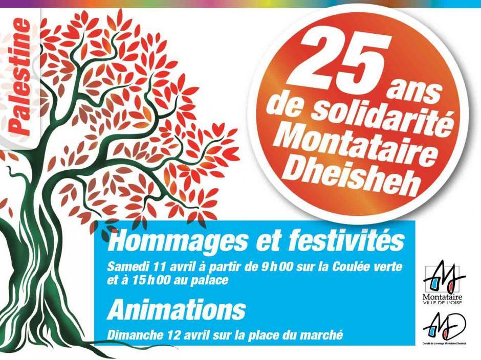 11 & 12 avril, Montataire - 25 ans de solidarité Montataire-Dheisheh