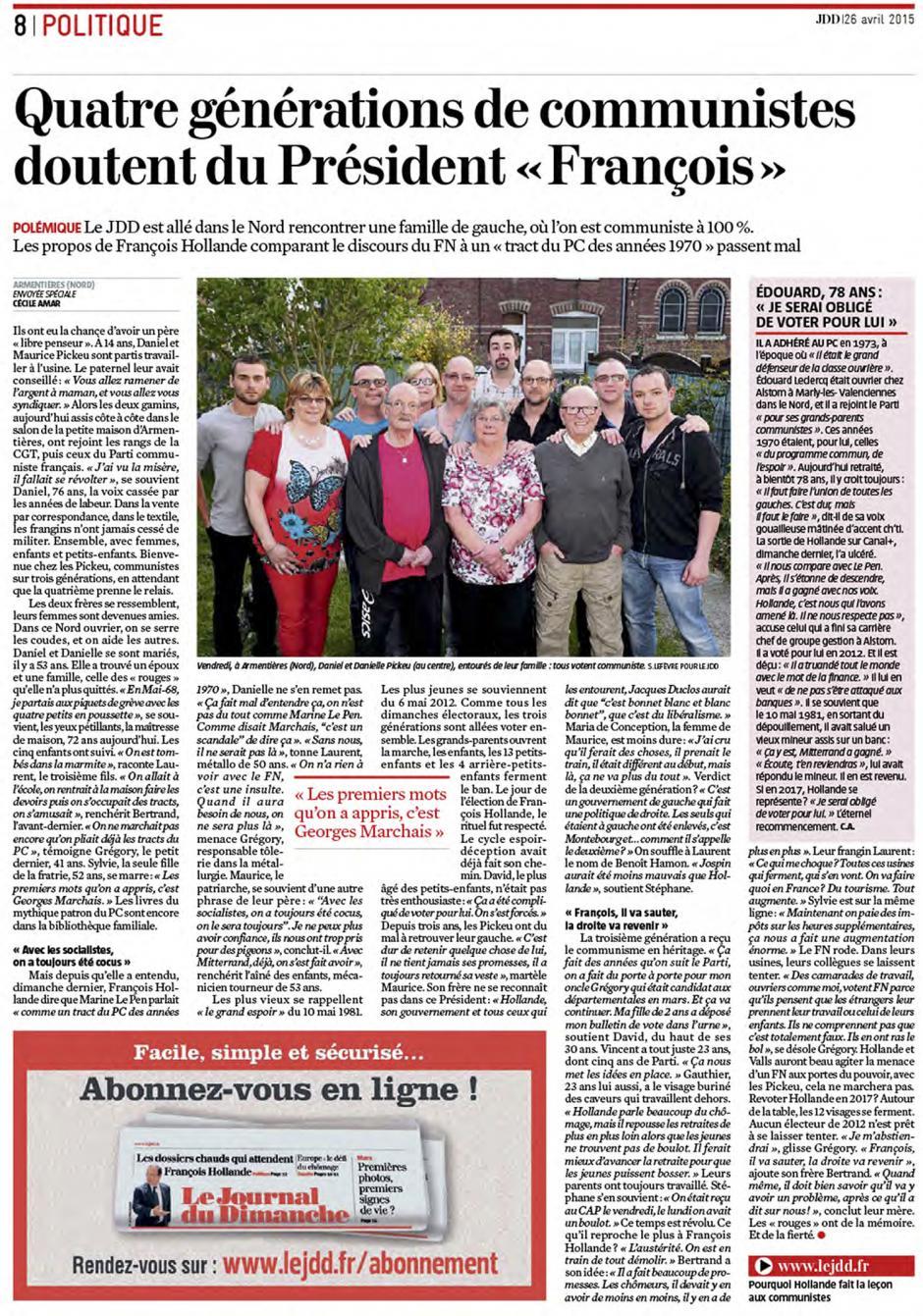 20150426-LeJdD-Nord-Quatre générations de communistes doutent du président « François »