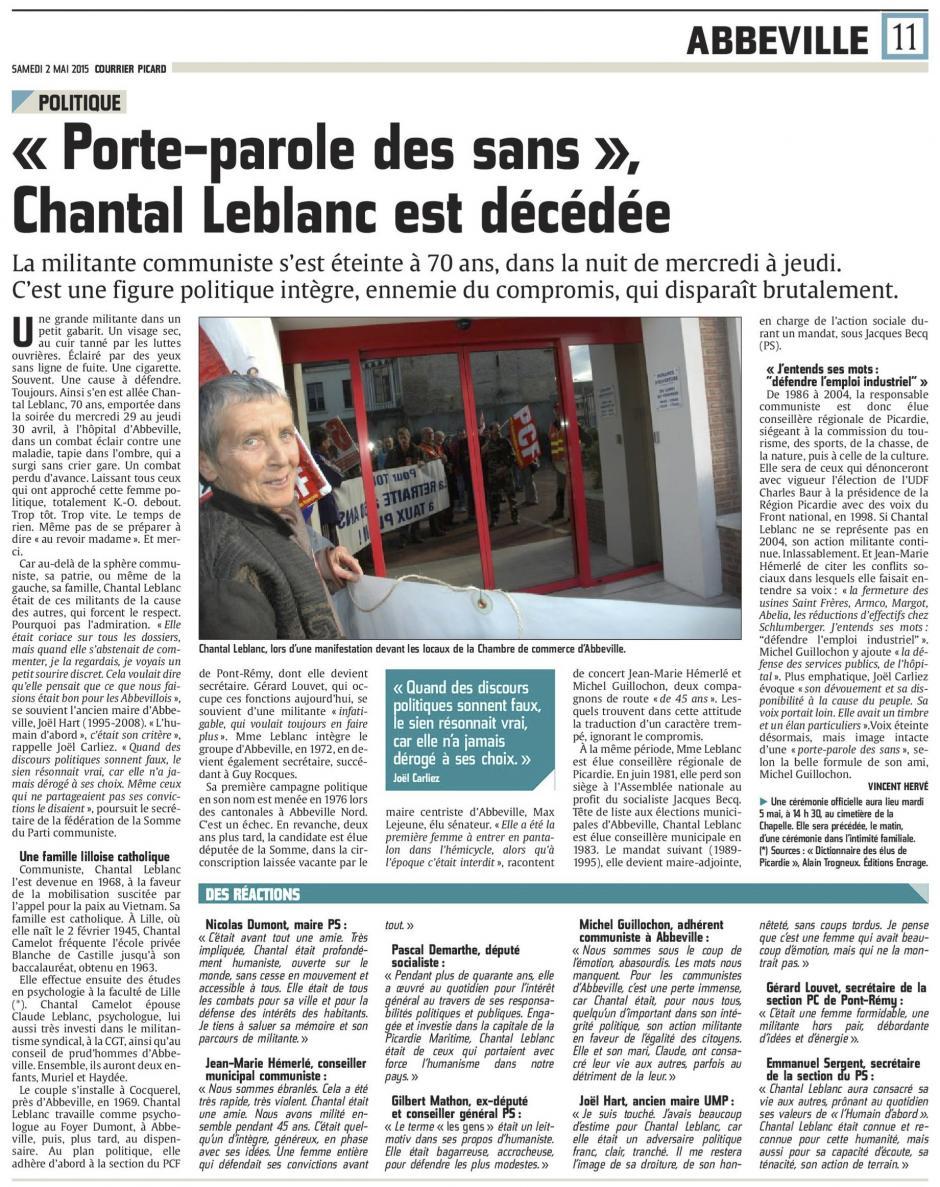 20150502-CP-Abbeville-« Porte-parole des sans », Chantal Leblanc est décédée