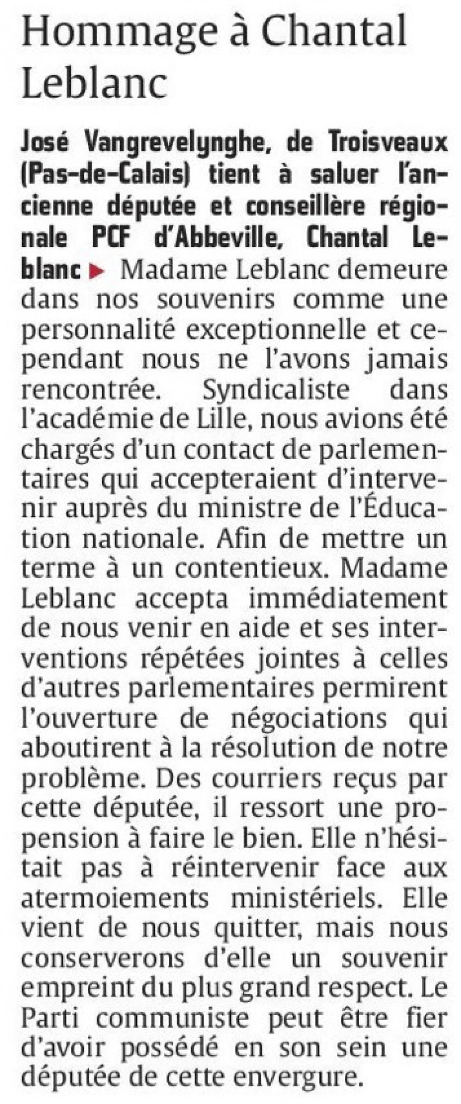 20150518-CP-Abbeville-Courrier des lecteurs-Hommage à Chantal Leblanc