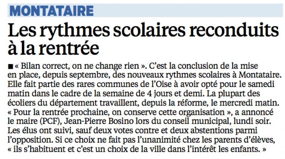 20150521-LeP-Montataire-Les rythmes scolaires reconduits à la rentrée