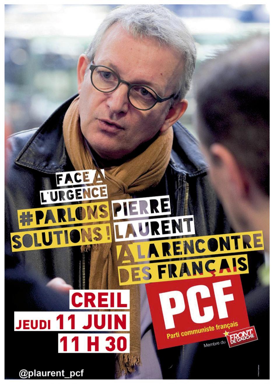 11 juin, Creil - Pierre Laurent à la rencontre des acteurs de la santé de l'Oise
