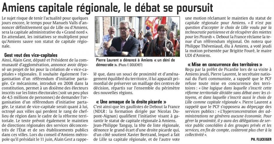 20150613-CP-Picardie-Pierre Laurent a dénoncé à Amiens «un déni de démocratie » [réforme territoriale]