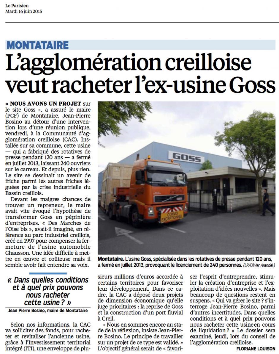 20150616-LeP-Montataire-L'agglomération creilloise veut racheter l'ex-usine Goss