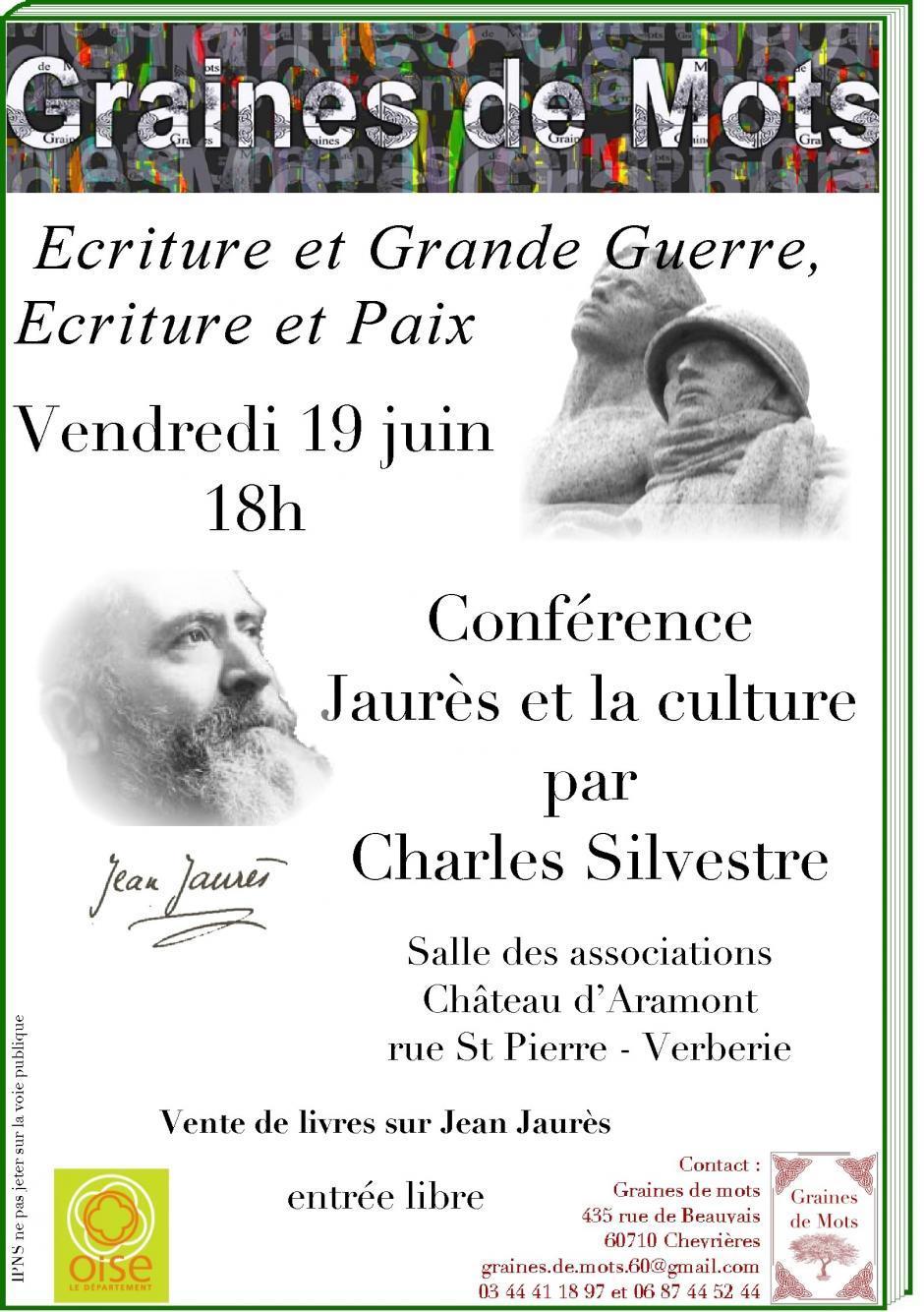 19 juin, Verberie - Conférence «Jaurès et la culture », avec Charles Silvestre
