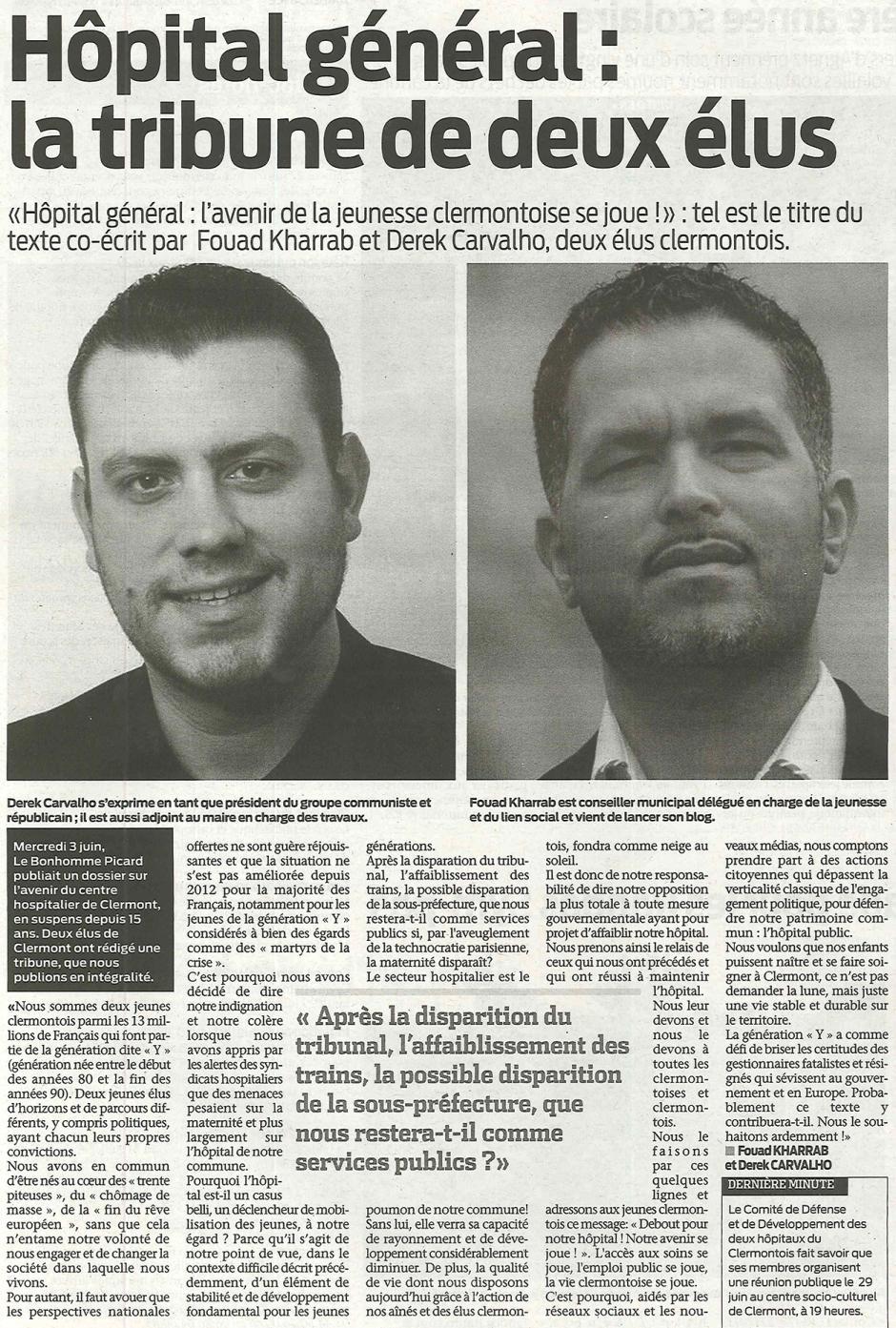 20150624-BonP-Clermont-Hôpital général : la tribune de deux élus [Derek Carvalho]