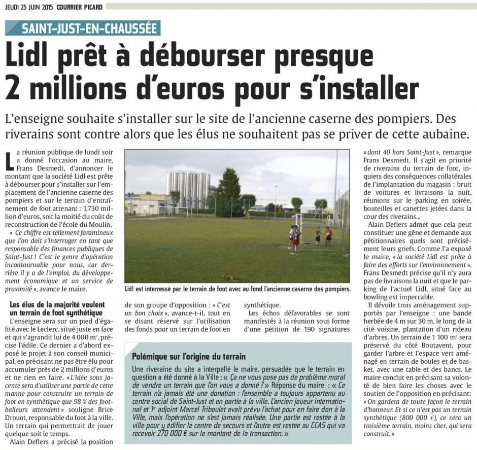 20150625-CP-Saint-Just-en-Chaussée-Lidl prêt à débourser presque 2 Mns d'euros pour s'installer [Alain Deflers]