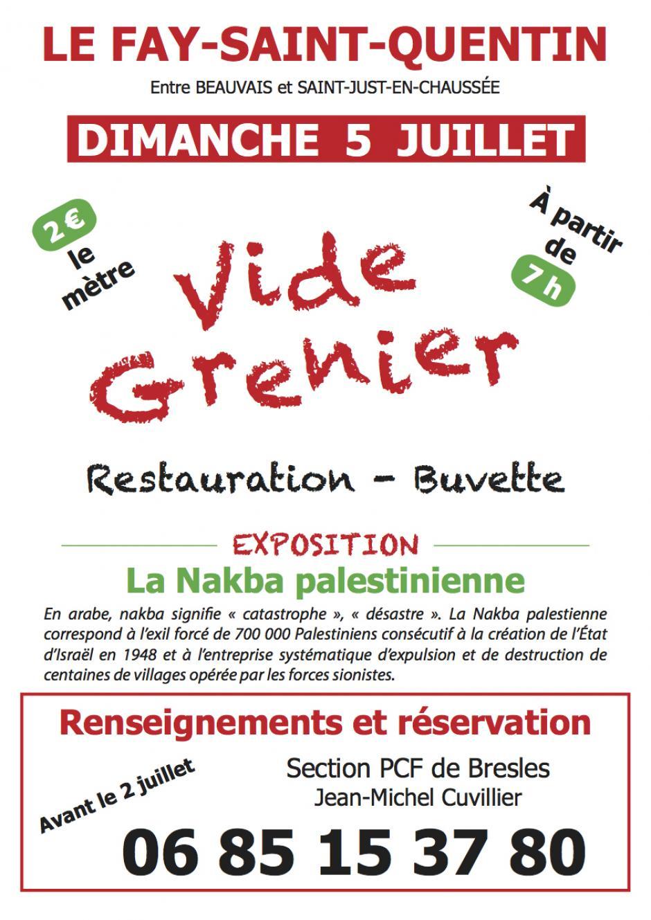 5 juillet, Le Fay-Saint-Quentin - Vide-grenier organisé par la section PCF de Bresles