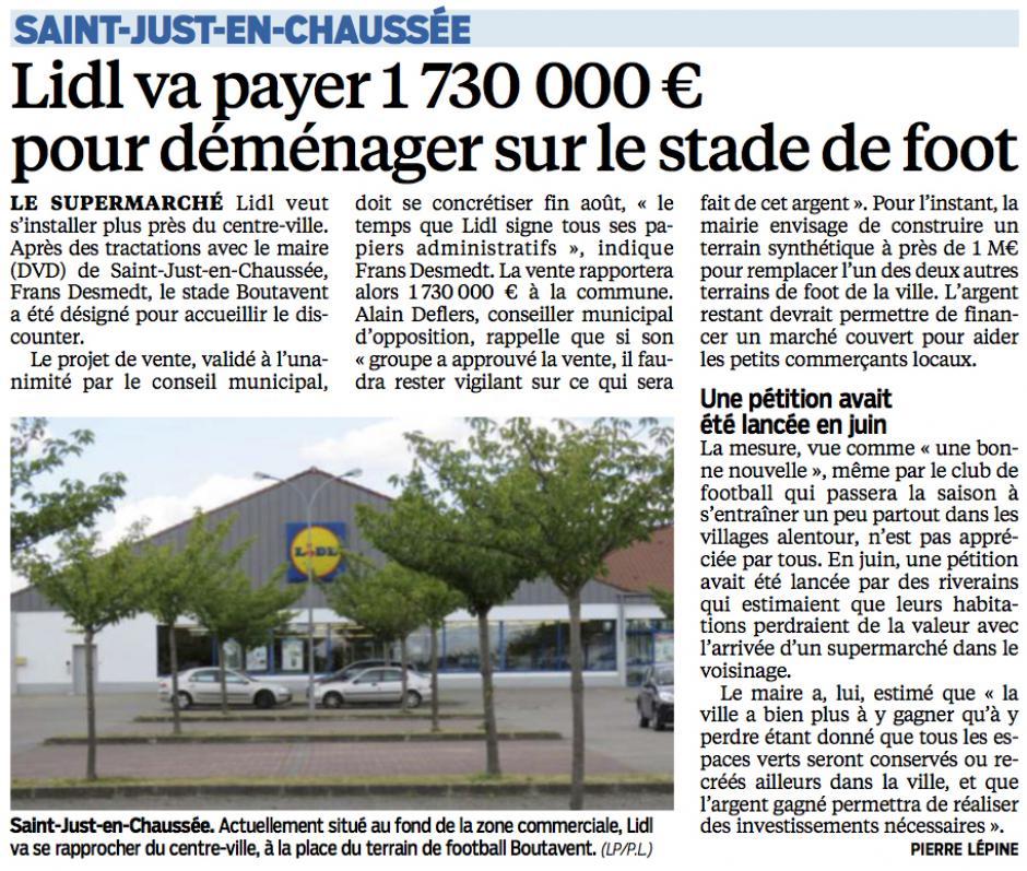 20150803-CP-Saint-Just-en-Chaussée-Lidl va payer 1 730 000 € pour déménager sur le stade de foot [Alain Deflers]