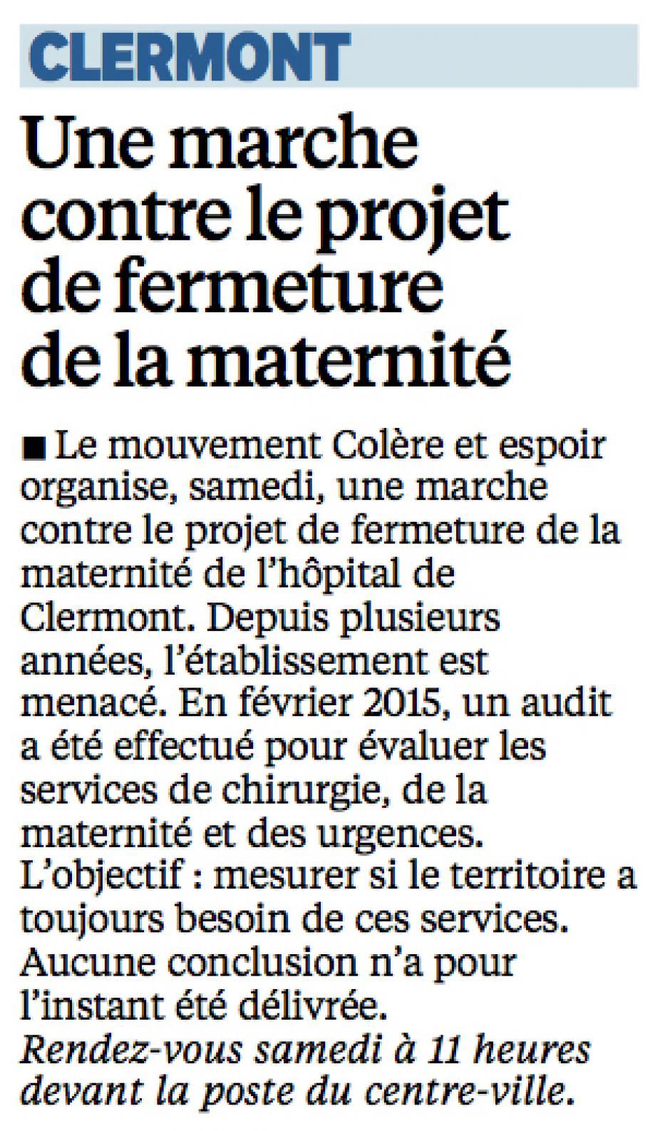 20150910-LeP-Clermont-Une marche contre le projet de fermeture de la maternité
