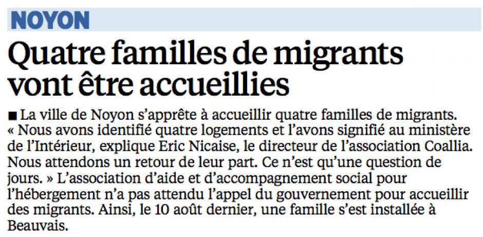 20150912-LeP-Noyon-Quatre familles de migrants vont être accueillies