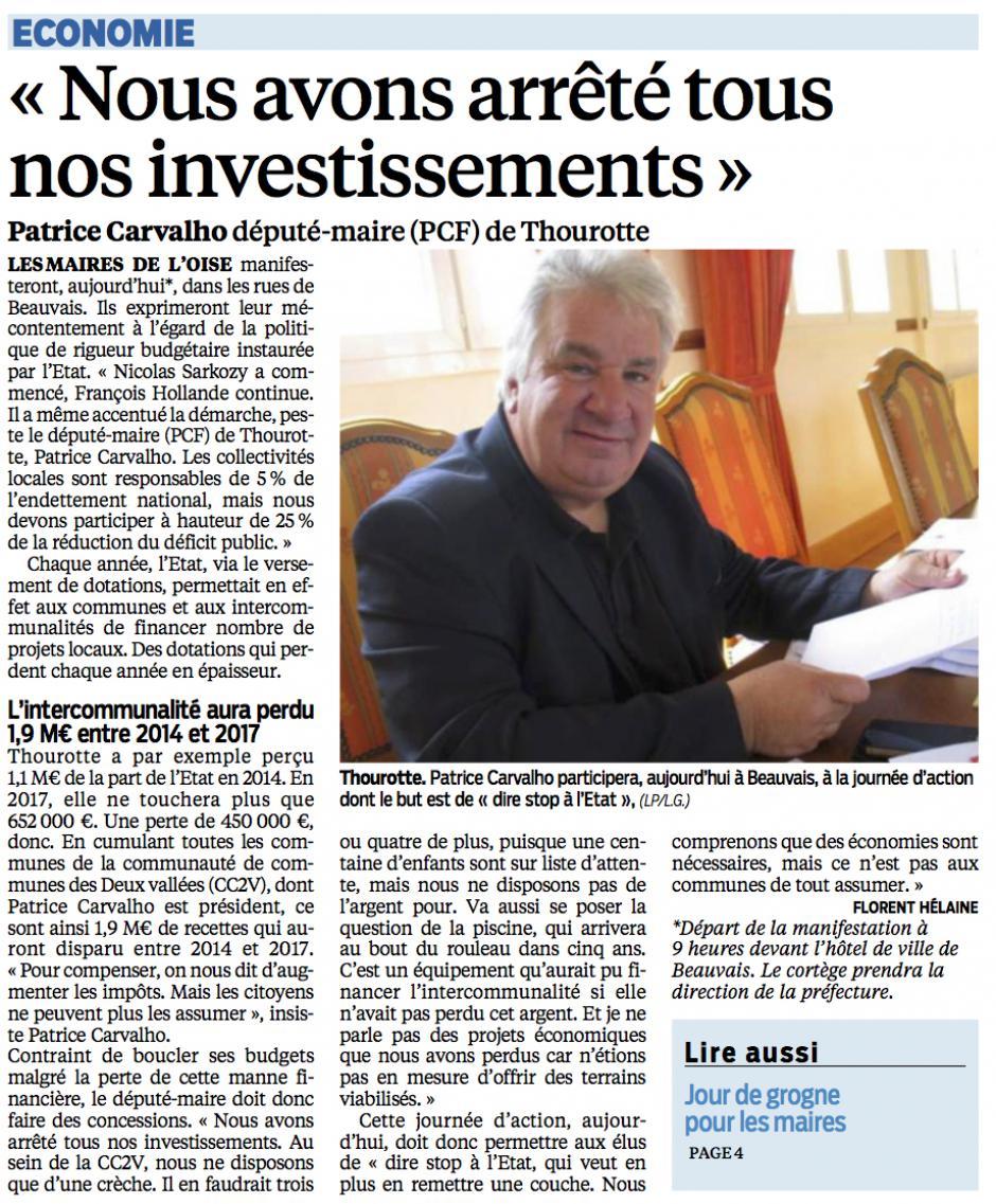 20150919-LeP-Thourotte-Patrice Carvalho (PCF) : « Nous avons arrêté tous nos investissements »