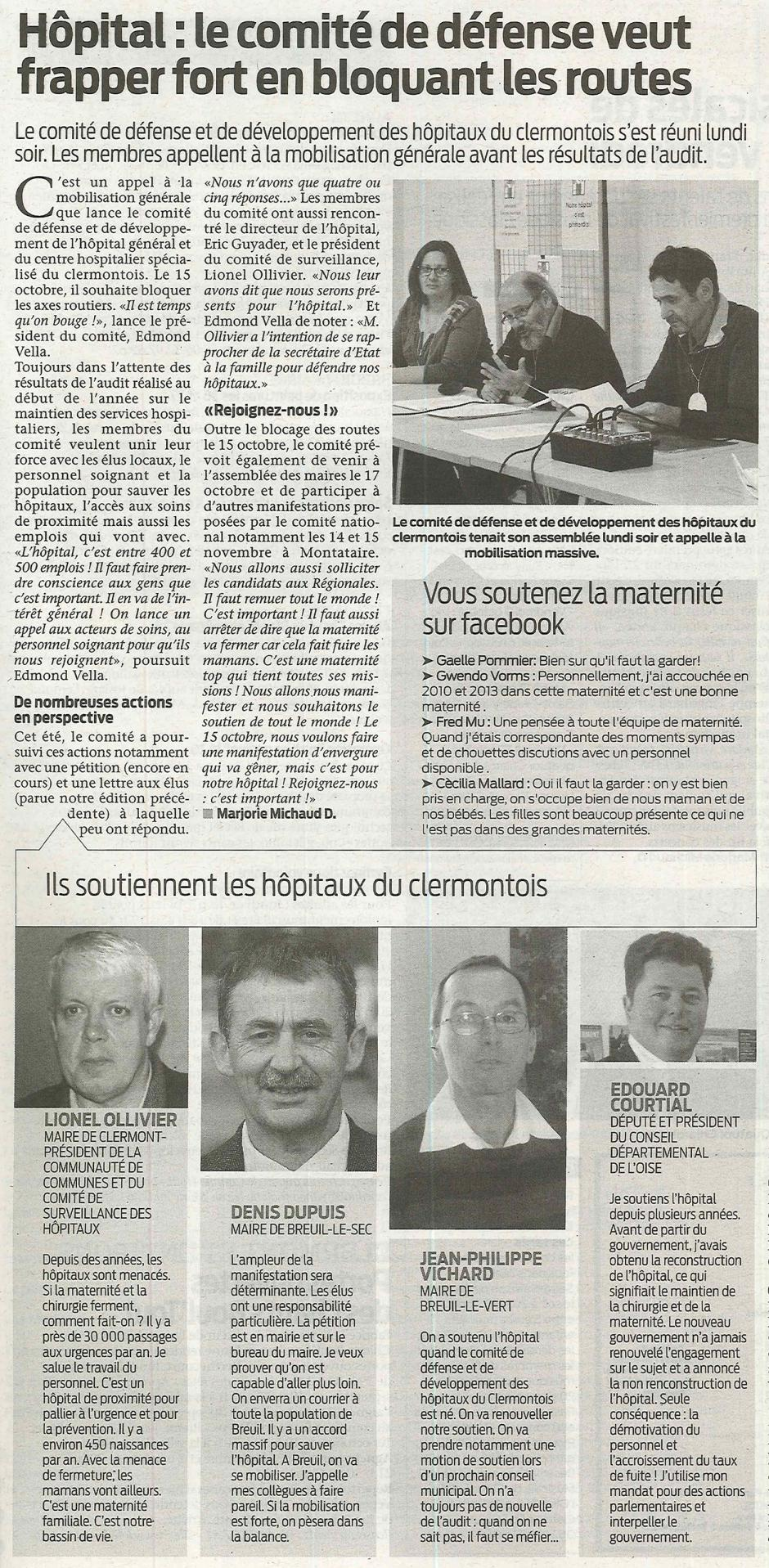 20150923-BonP-Clermont-Hôpital : le comité de défense veut frapper fort en bloquant les routes