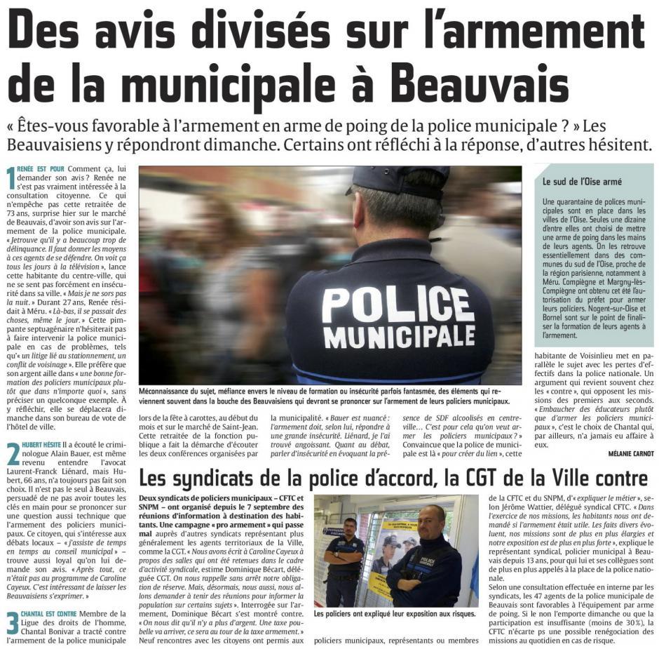 20150924-CP-Beauvais-Des avis divisés sur l'armement de la police municipale