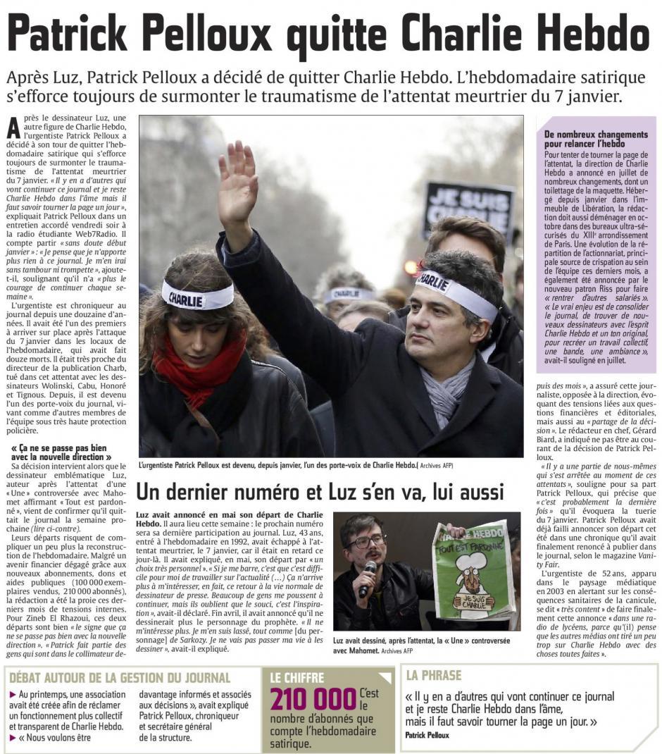 20150927-CP-France-Patrick Pelloux quitte Charlie Hebdo