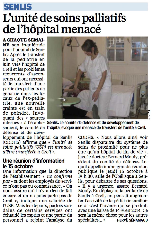 20151007-LeP-Senlis-L'unité de soins palliatifs de l'hôpital menacé