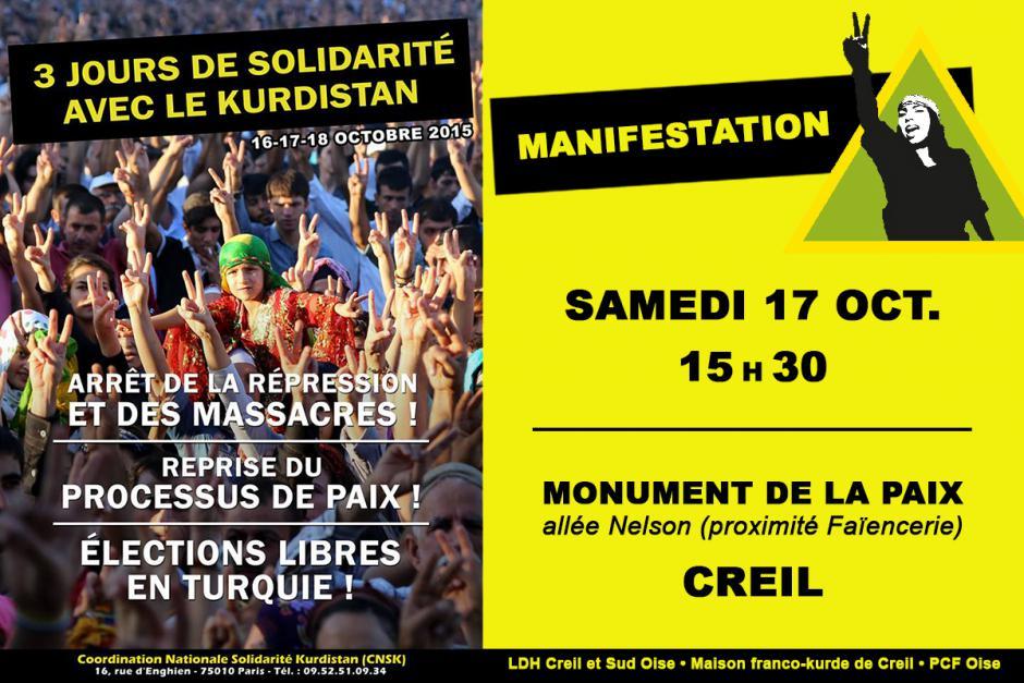 17 octobre, Creil - Solidarité avec le Kurdistan