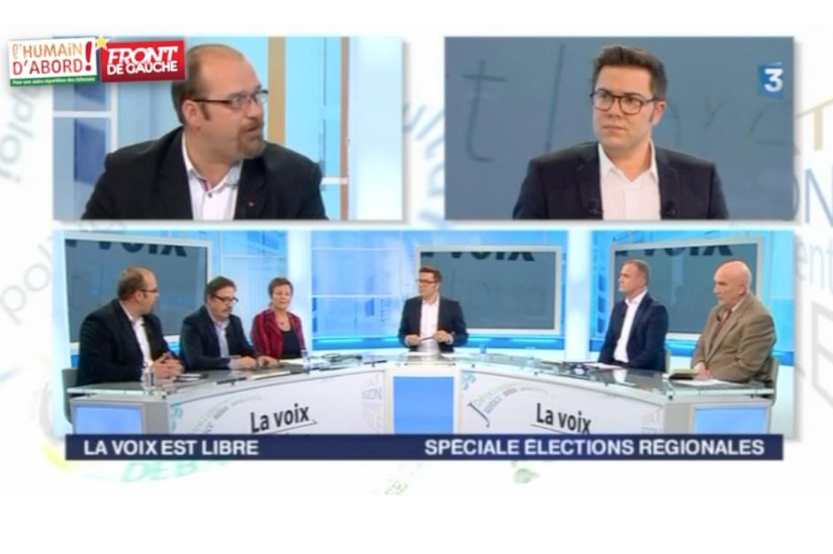 Benoît Roger : « Une banque publique régionale pour investir dans l'économie réelle, ce sont des emplois au quotidien » - La voix est libre, France 3 Picardie, 31 octobre 2015