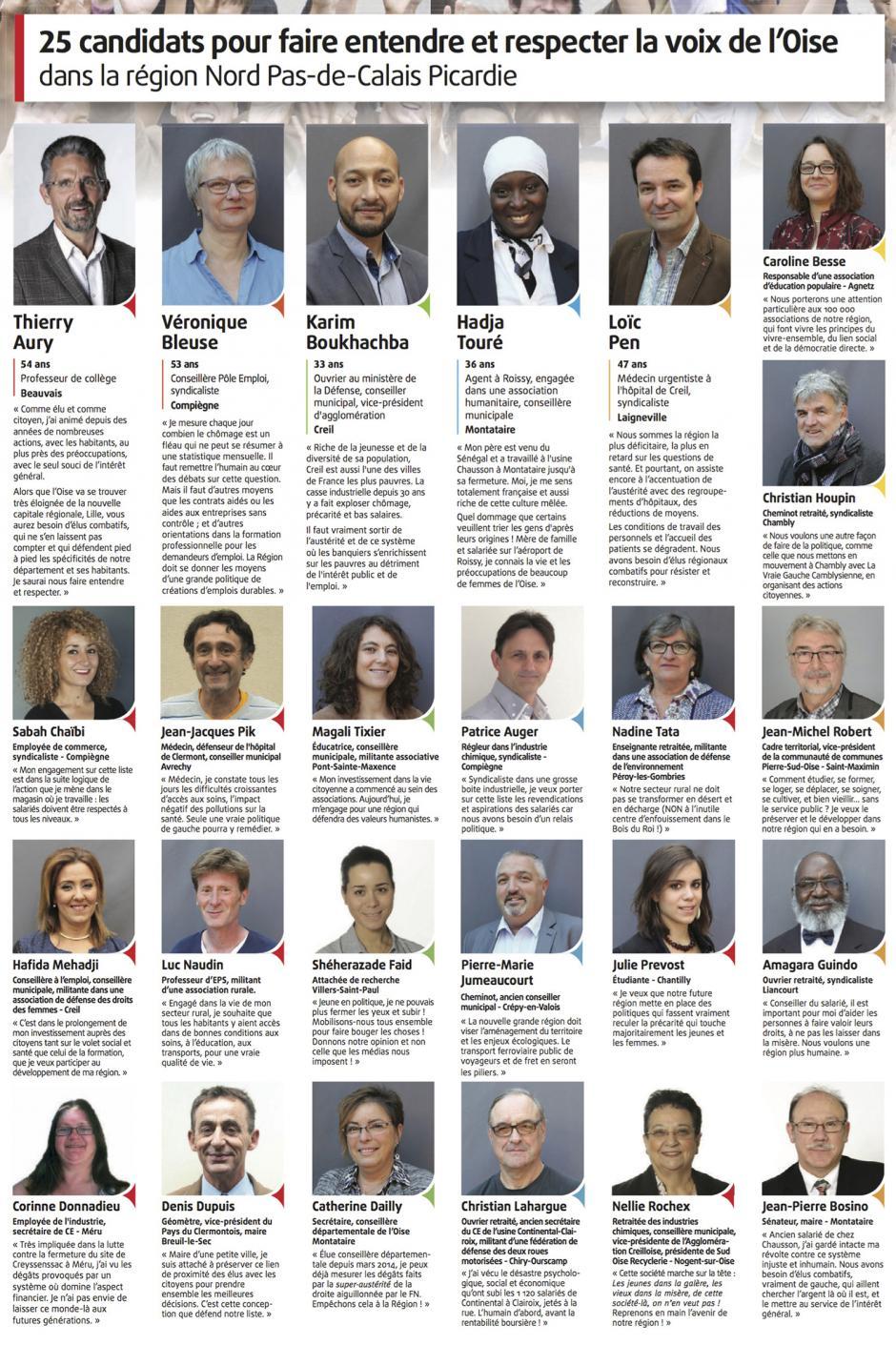 25 candidats pour faire entendre et respecter la voix de l'Oise