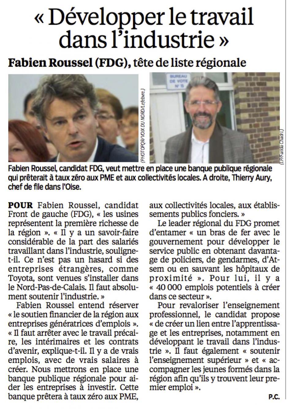 20151128-LeP-NPdCP-R2015-Fabien Roussel : « Développer le travail dans l'industrie »