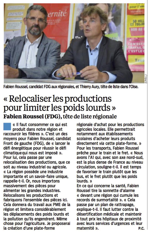20151201-LeP-NPdCP-R2015-Fabien Roussel : « Relocaliser les productions pour limiter les poids lourds »