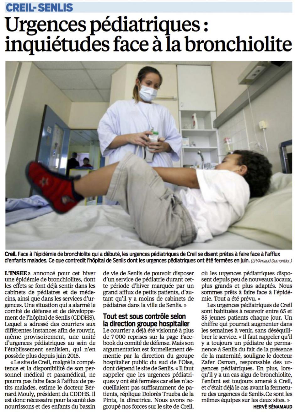20151216-LeP-Creil-Senlis-Urgences pédiatriques : inquiétudes face à la bronchiolite