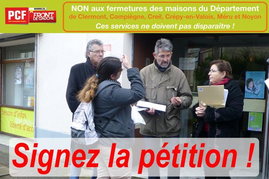 Non aux fermetures des maisons du Département ! Je signe la pétition !