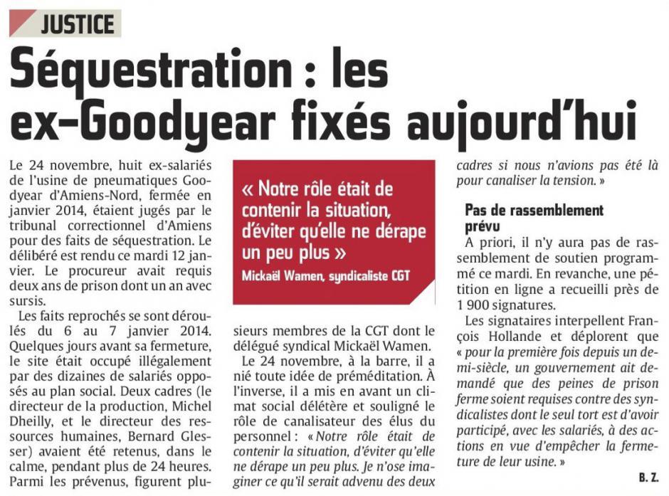 20160112-CP-Amiens-Séquestration : les ex-Goodyear fixés aujourd'hui