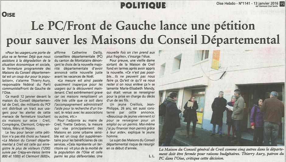 20160113-OH-Oise-Le PCF-Front de gauche lance une pétition pour sauver les Maisons du Conseil départemental