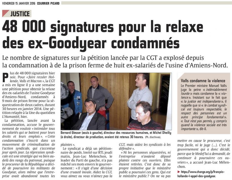 20160115-CP-France-48 000 signatures pour la relaxe des ex-Goodyear condamnés