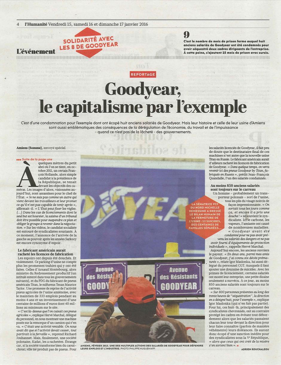 20160115-L'Huma-Goodyear, le capitalisme par l'exemple