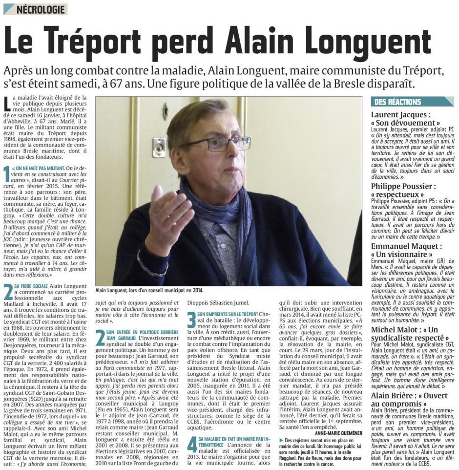 20160118-CP-Le Tréport-La ville perd Alain Longuent [édition Picardie maritime]