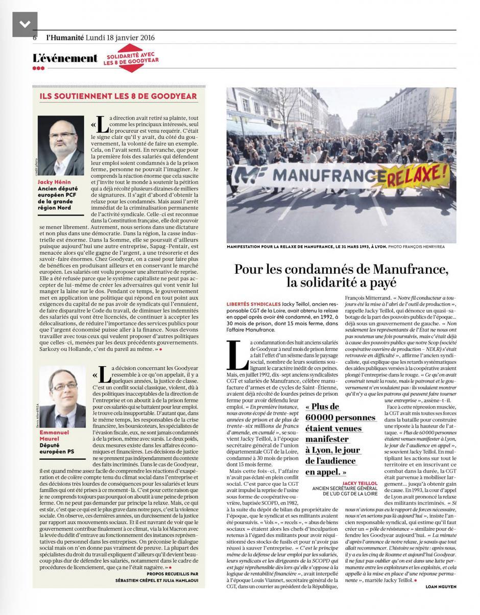 20160118-L'Huma-France-Ils soutiennent les huit de Goodyear